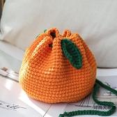 DLY手工編織包包毛線橘子束口包自制材料包【時尚大衣櫥】