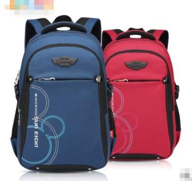 預購-大容量3-6年級休閒字母風雙肩後背包