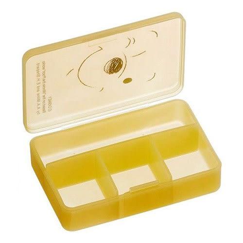 DISNEY 小熊維尼日本製小物收納盒-四內分格式(大臉)★funbox★SKATER_AT38004