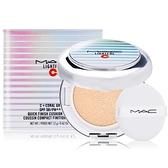 M.A.C超顯白氣墊粉餅SPF50/PA++++12g#LIGHT(蕊+粉撲+盒)贈試用包-隨機出貨X1