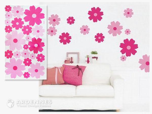 【ARDENNES】創意組合DIY壁貼/牆貼/兒童教室佈置 粉色小花
