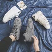 新款秋冬季男鞋韓版潮流小白高板鞋棉鞋休閒