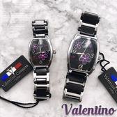 【含原盒】范倫鐵諾Valentino Coupeau原廠正品 陶瓷腕錶 櫻花手錶 女錶  ☆匠子工坊☆【UT0025】黑