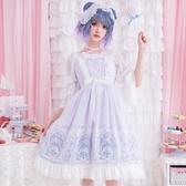 洛麗塔洋裝連身裙Lolita蕾絲吊帶蝴蝶結【奇趣小屋】