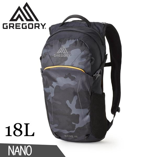 【GREGORY 美國 18L NANO多功能登山背包《黑林地迷彩》】111498/雙肩背包/後背包/電腦包/旅行/自行車