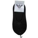 EMPORIO ARMANI老鷹標誌刺繡隱形船型短襪(黑)980292-2