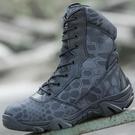 戶外特種兵蟒紋軍靴男沙漠戰術靴登山靴防水超輕作戰靴陸戰靴正品