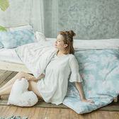 [SN]#U091#細磨毛天絲絨6x6.2尺雙人加大床包+枕套三件組-台灣製(不含被套)