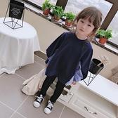 中小童2020春秋季女童寶寶新款條紋拼接襯衣 兒童洋氣寬鬆上衣  店慶降價