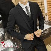 西服套裝男商務正裝職業裝西裝修身伴郎新郎結婚禮服 全店88折特惠