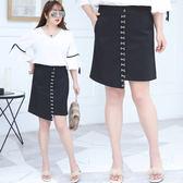 中大尺碼~金屬扣設計半身裙(XL~4XL)