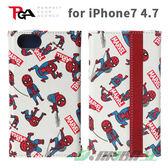 【預購商品】iJacket iPhone7/6s/6 4.7吋 Marvel 漫畫風系列 蜘蛛人 翻蓋皮套