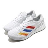adidas 慢跑鞋 Adizero Boston 9 白 彩色 男鞋 愛迪達 臺北馬拉松限定款 【ACS】 GV7116