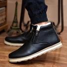 棉鞋男防水休閒保暖皮鞋加絨加厚馬丁靴冬季雪靴