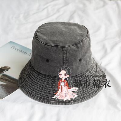 牛仔帽 韓版水洗牛仔漁夫帽子女百搭個性做舊大檐復古遮陽摺疊防曬盆帽男 3色