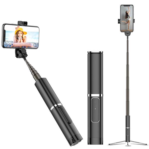 時尚高質感鋁合金外殼!! 一體式三腳架 藍牙自拍棒 華碩 ASUS LG SONY HTC 手機藍芽自拍伸縮棒 NCC認證