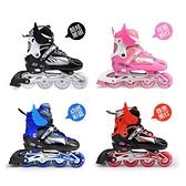 輪滑溜冰鞋黑色輪子鞋正品直排套裝可調碼兒童男女旱冰鞋閃光輪 MJ百分百