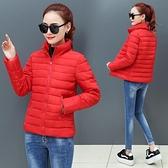 冬新款棉衣女士短款修身保暖加厚小輕薄外套棉服