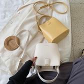 水桶包 夏天網紅側背女包2020新款流行包包時尚斜背包百搭ins質感水桶包 韓國時尚週