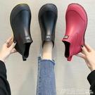 雨鞋 日系時尚款外穿雨鞋女短筒加絨保暖雨靴買菜廚房防滑水鞋洗車鞋 格蘭小舖