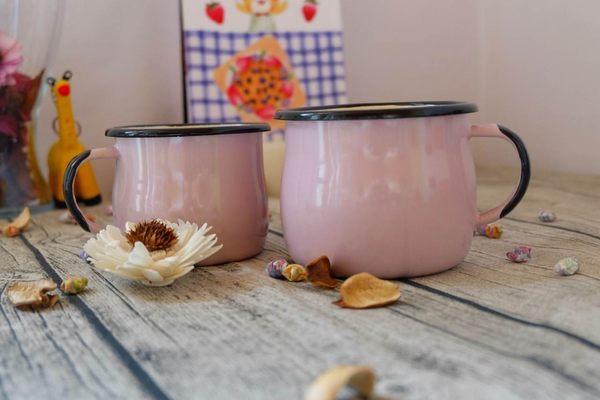 Emalia Olkusz 波蘭琺瑯杯 曲線杯 馬克杯 500ml 粉紅