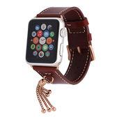Apple watch真皮表帶蘋果掛飾手表帶iwatch單圈【韓衣舍】