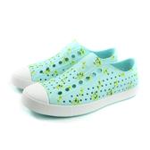 native JEFFERSON PRINT 休閒鞋 洞洞鞋 水藍色 男女鞋 11100101-8771 no890
