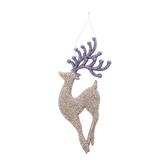 聖誕麋鹿吊飾 銀 18cm