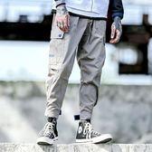 潮牌寬鬆哈倫褲街頭青少年男士闊腿小腳褲嘻哈束腳休閒褲   歐韓時代