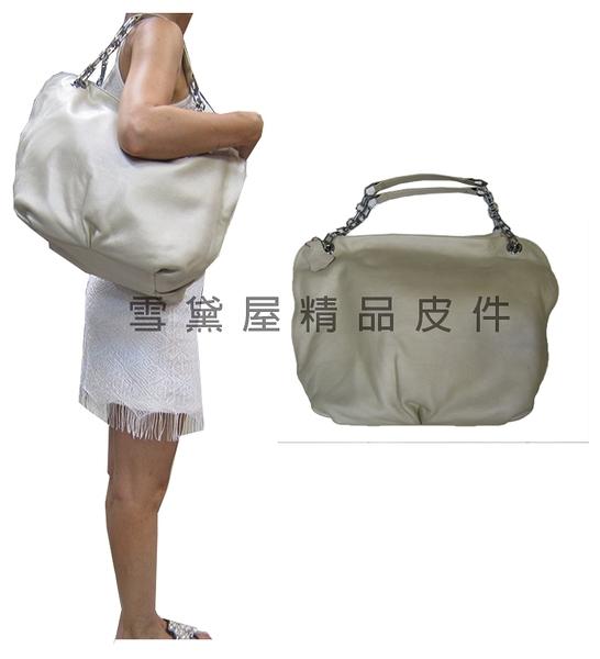 ~雪黛屋~ITALI DUCK 肩斜背大容量可A4資料夾主袋內二隔層台灣製造100%進口軟質牛皮革ID9008D