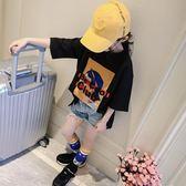 女童半袖T恤春裝2019新款韓版兒童大童洋氣打底衫短袖上衣夏裝潮