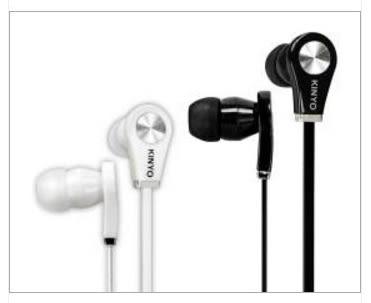 新竹【超人3C】KINYO 時尚造型耳機 EMP50 扁平防捲線 耳塞式設計