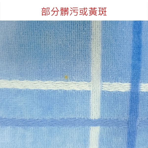 [ NG大放送 ]BURBERRY品牌字母條紋飾邊純棉浴巾(藍色)084731-1