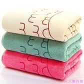 【3條裝】成人毛巾柔軟吸水速干洗澡毛巾不掉毛洗臉干發巾