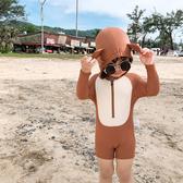 韓國韓范中小童男童連體泳衣可愛寶寶小熊造型幼兒園游泳沖浪泳裝