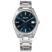 SEIKO 精工 / 6N52-00A0B.SUR309P1 / 簡約時尚 藍寶石水晶玻璃 日期 不鏽鋼手錶 藍色 40mm