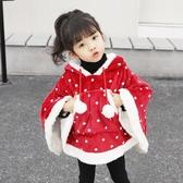 女童麋鹿披肩幼兒園寶寶披風聖誕節表演衣服兒童演出服裝外套斗篷 亞斯藍