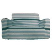 亞緻 彈性1人沙發套條紋-藍