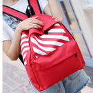 紅色後背包-現貨販售- 防水材質斑馬紋後背包包 B-8145