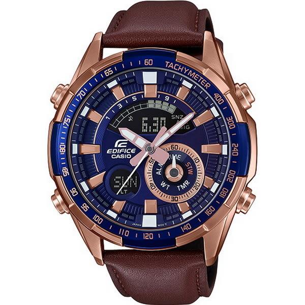 【台南 時代鐘錶 CASIO】EDIFICE 宏崑公司貨 ERA-600GL-2A 沉穩品味賽車風格時尚腕錶