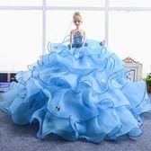 (百貨週年慶)仿真娃娃公主超大90釐米夢幻大號女孩公主洋娃娃婚紗大裙拖尾套裝