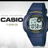 CASIO 前衛俐落 40mm/F-200W-2B/casio/最佳禮物/NY/F-200W-2BDF 現+排單 熱賣中!