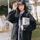 夾克外套 2021秋冬新款牛仔工裝外套女寬鬆韓版BF風網紅學生百搭夾克上衣潮