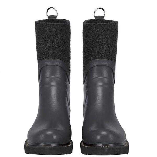 RUB53防水抗寒拼接中筒雨靴-深灰