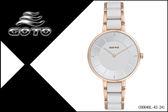【時間道】[GOTO。錶]簡約無秒針時尚腕錶/白面玫瑰金殼鋼+陶瓷(GS0040L-42-241)免運費