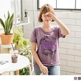 《AB6119》高含棉竹節棉美式英文燙印T恤上衣 OrangeBear
