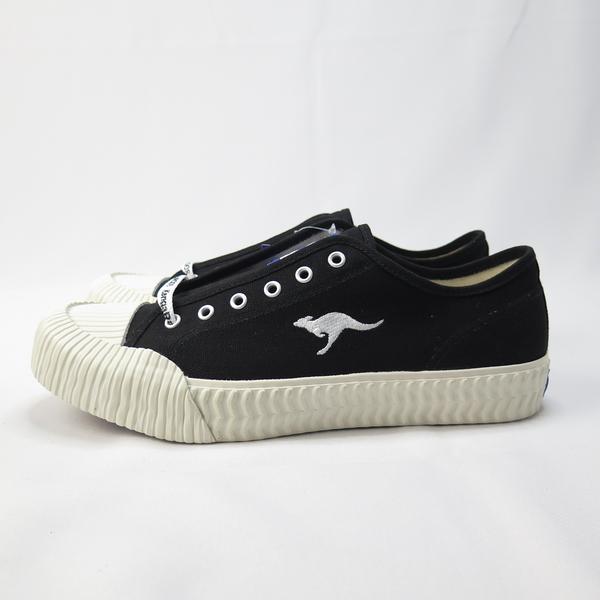 KangaROOS 袋鼠 CRUST 低筒帆布鞋 綁帶 餅乾鞋 正品 KM91260 黑 男款【iSport愛運動】
