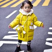女童外套 冬裝新款正韓兒童加厚羽絨棉服寶寶中長款棉襖外套潮 七夕情人節禮物