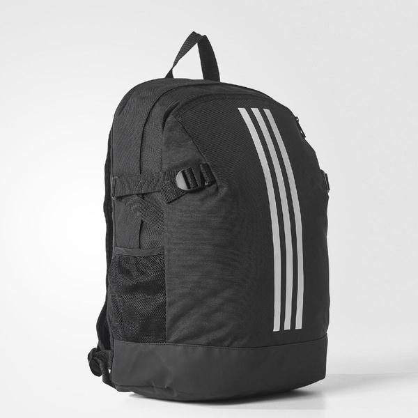 adidas 後背包 BP POWER IV M 黑 白 三條線 基本款 【ACS】 BR5864