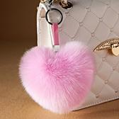 可愛仿狐貍毛掛件時尚皮草包包掛件毛絨鑰匙扣掛飾大毛毛球掛件